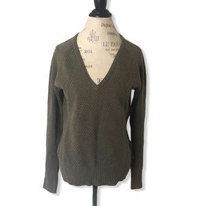 The North Face V-neck Sweater in Grey Green Brown